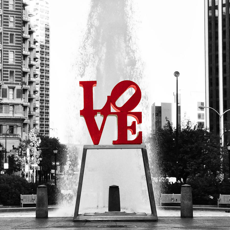 Love Photograph - Love Is Black And White by Bill Cannon