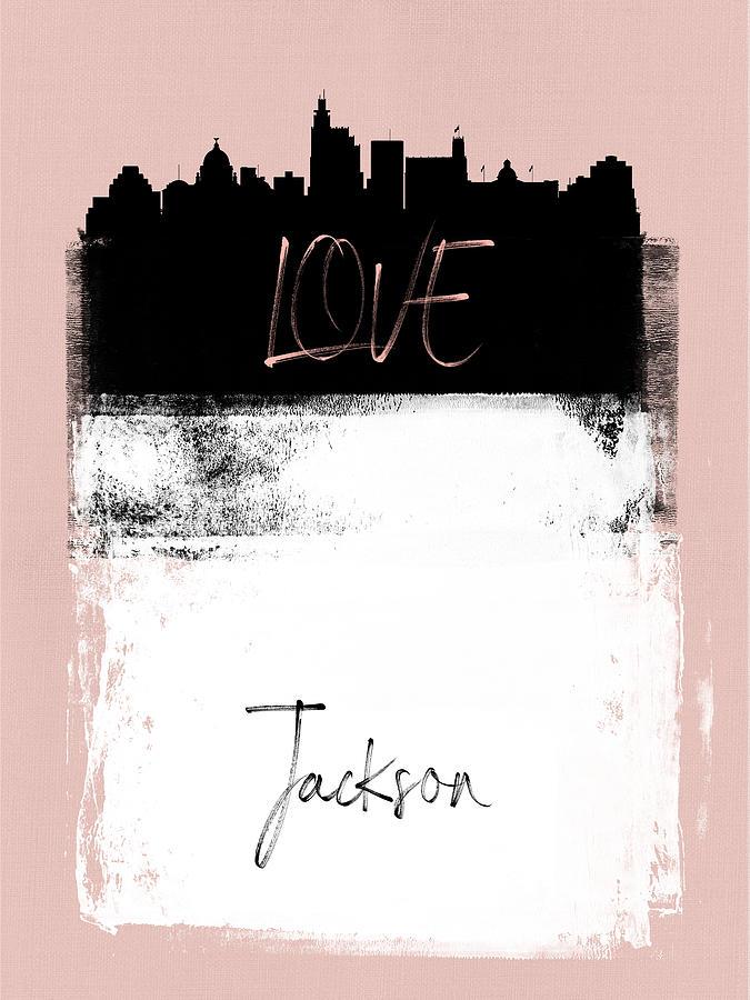 Jackson Mixed Media - Love Jackson by Naxart Studio
