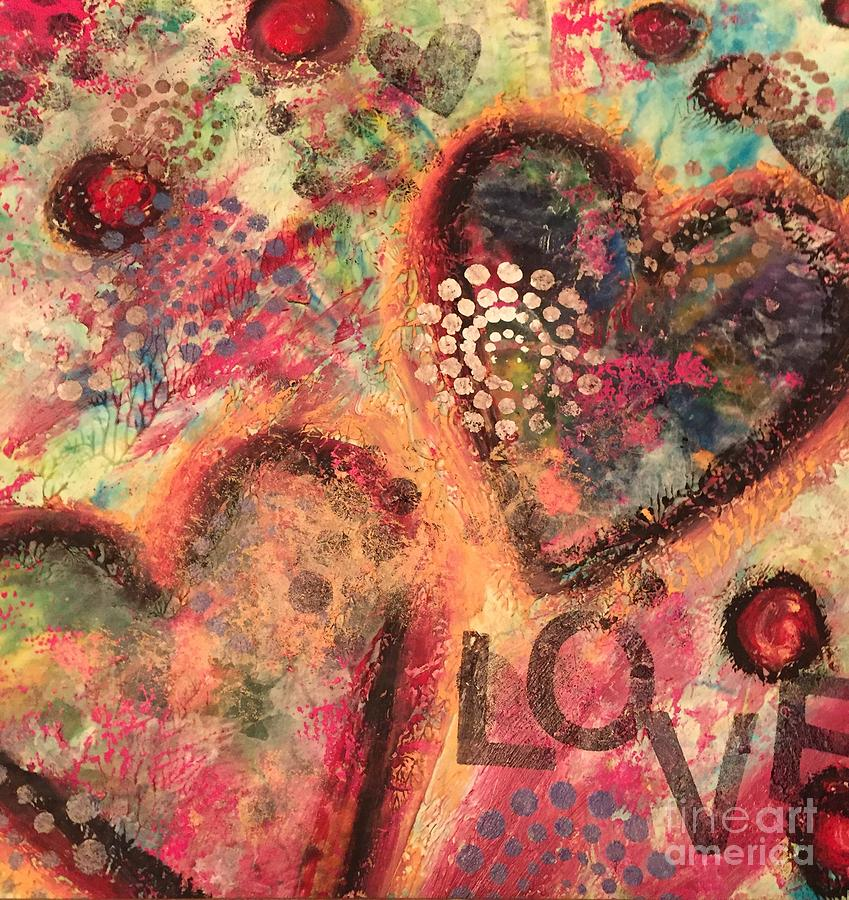 Mixed Media Mixed Media - Love 2 by Jessica Waters