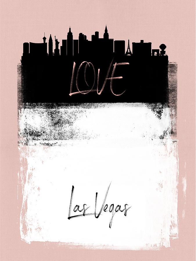 Las Vegas Mixed Media - Love Las Vegas by Naxart Studio
