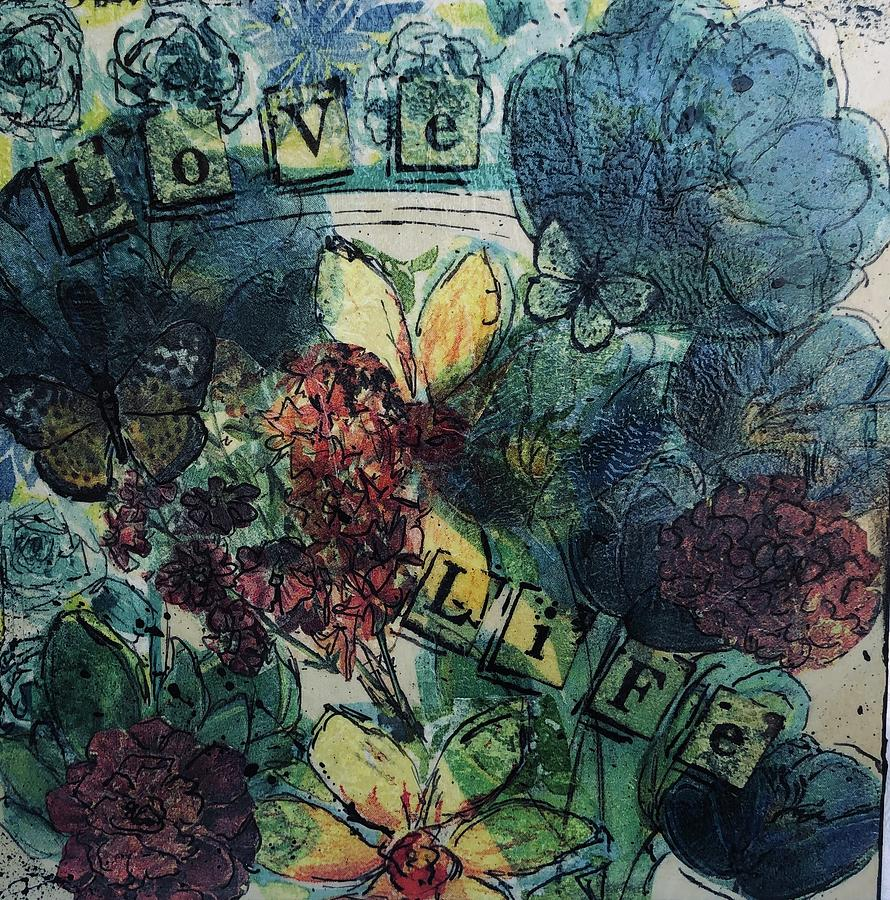 Flowers Mixed Media - Love Life by Dayna Lopez