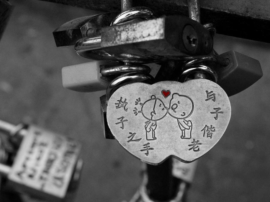 Love Photograph - Love Locks by Christine Buckley