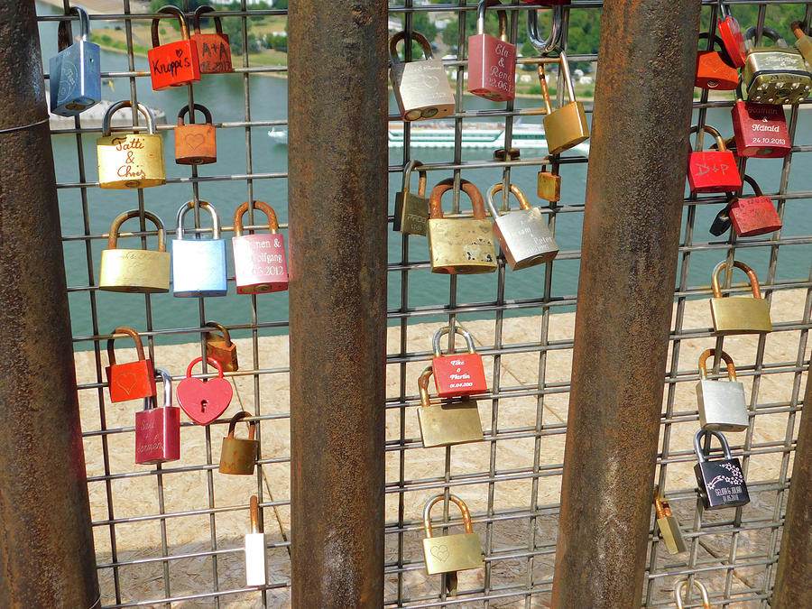 Love Locks in Koblentz Germany by Emmy Marie Vickers