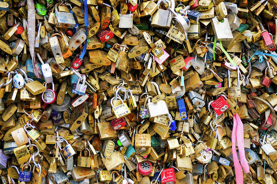 Lock Photograph - Love Locks Of Notre Dame by Richard A Brown