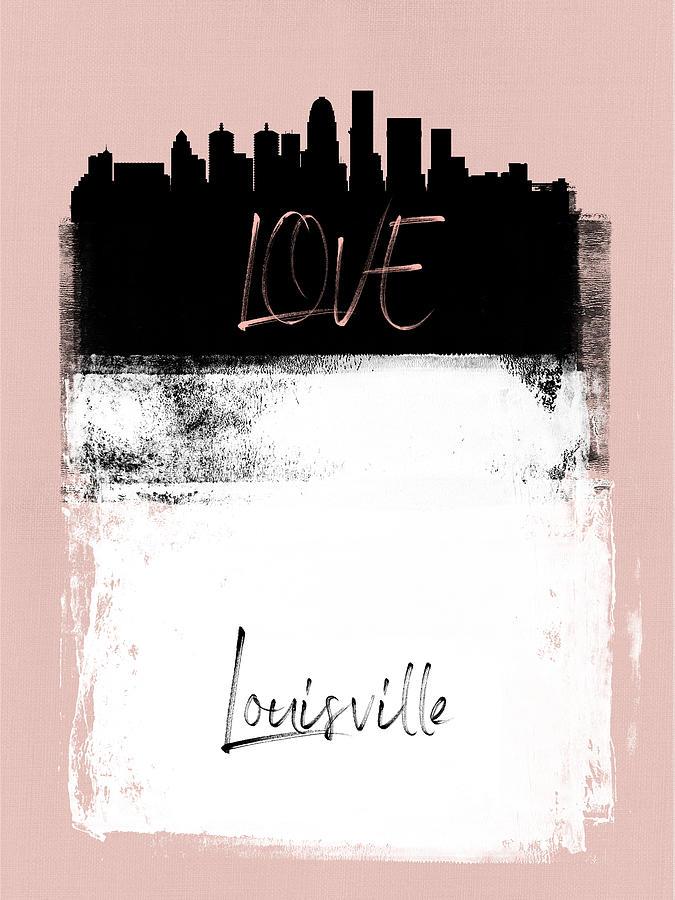 Louisville Mixed Media - Love Louisville by Naxart Studio