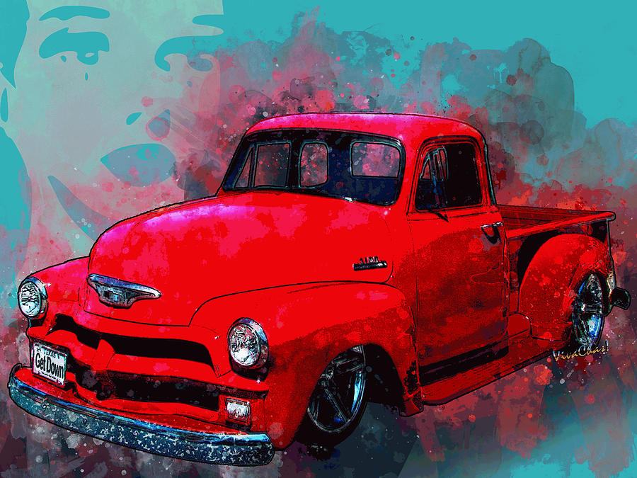 Love Me Love My 54 Chevy Pickup Truck by Chas Sinklier