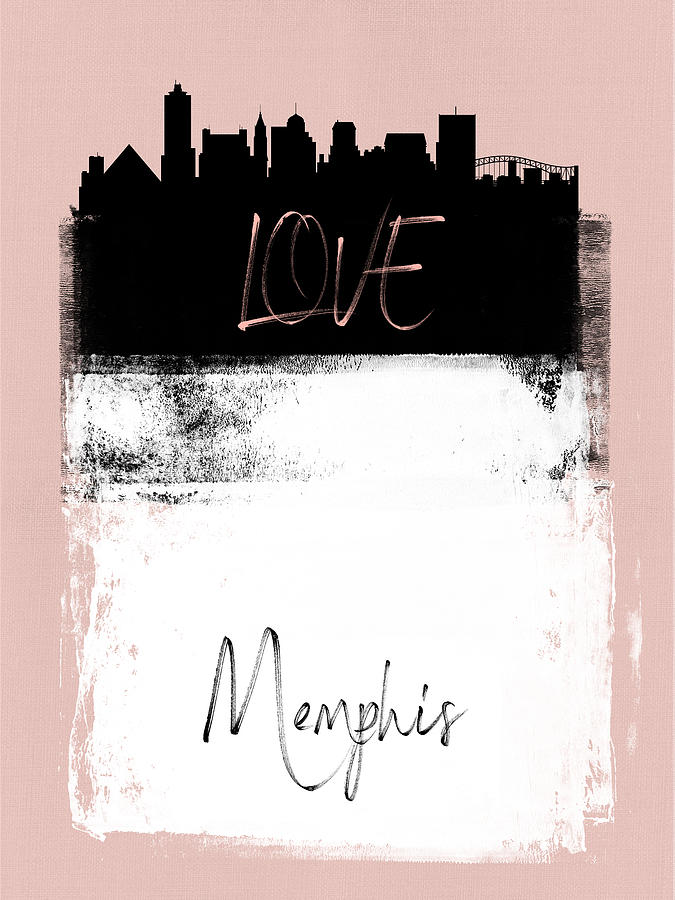 Memphis Mixed Media - Love Memphis by Naxart Studio