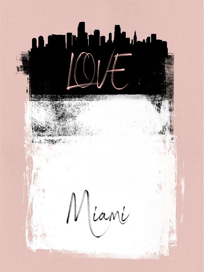 Miami Mixed Media - Love Miami by Naxart Studio