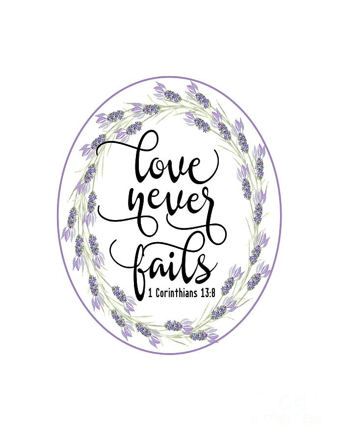 Love Never Fails' by Judy Hall-Folde