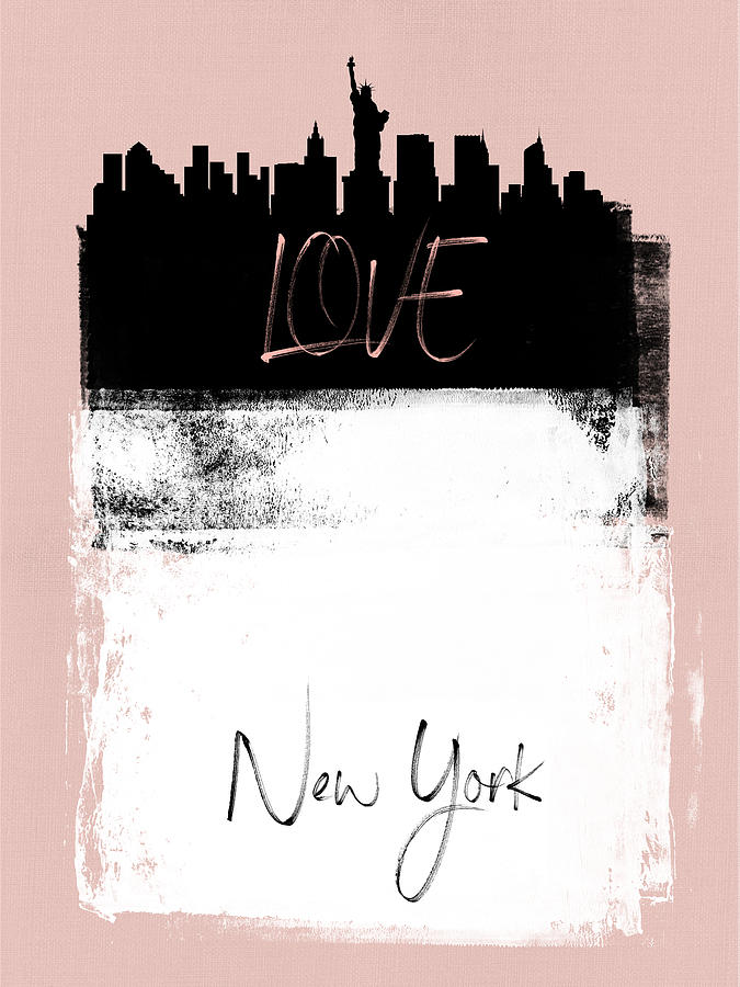 New York Mixed Media - Love New York by Naxart Studio
