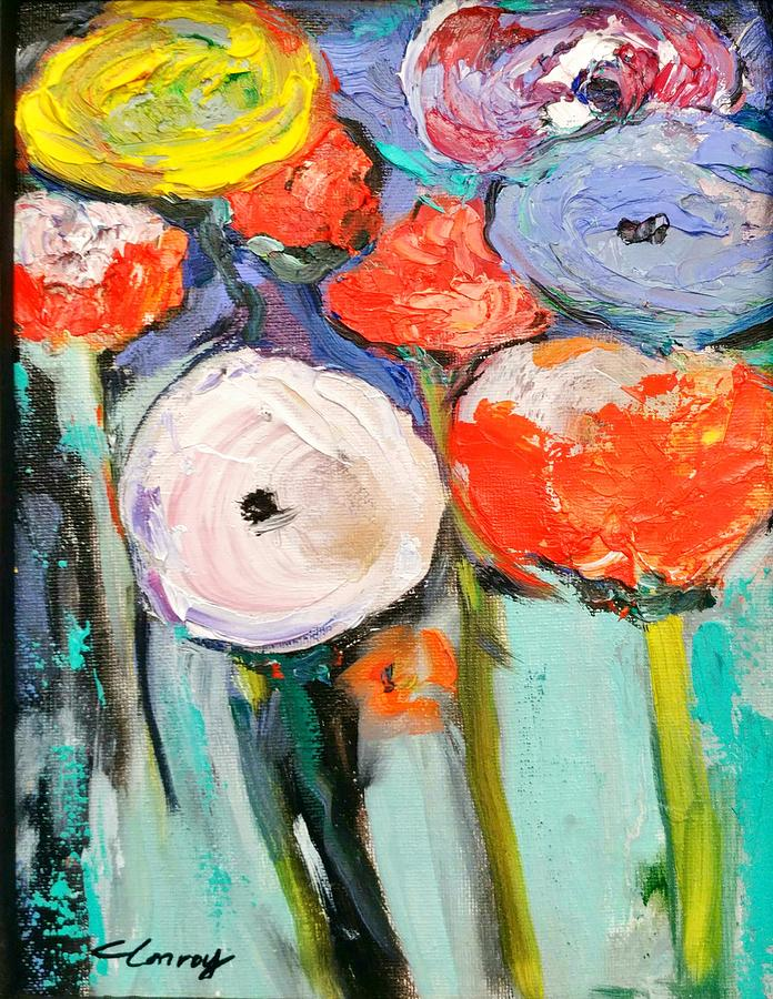 Poppies Painting - Love Of Poppies by Constance Paul