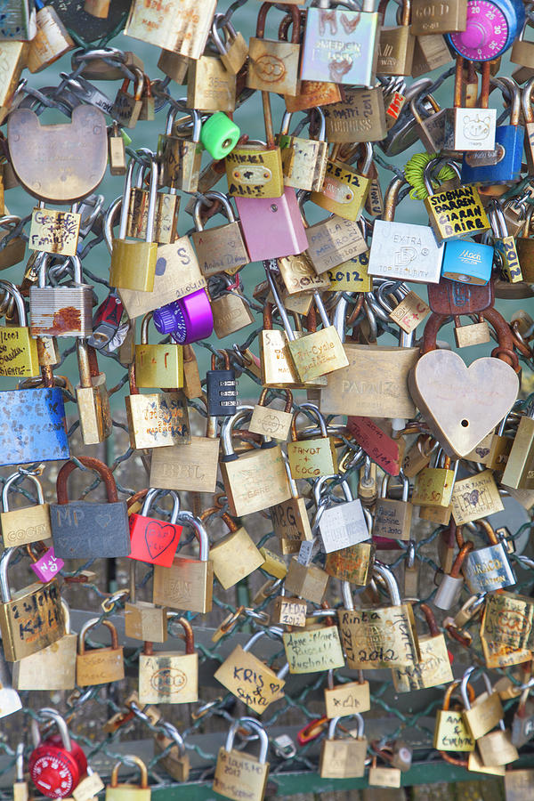 Love Padlocks, Paris Photograph by Karl Blackwell