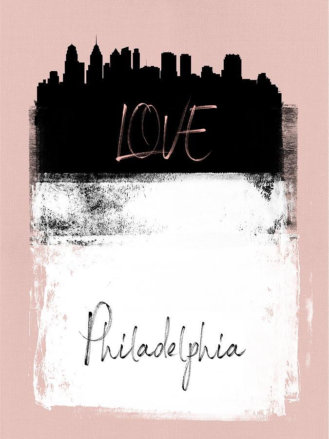 Philadelphia Mixed Media - Love Philadelphia by Naxart Studio