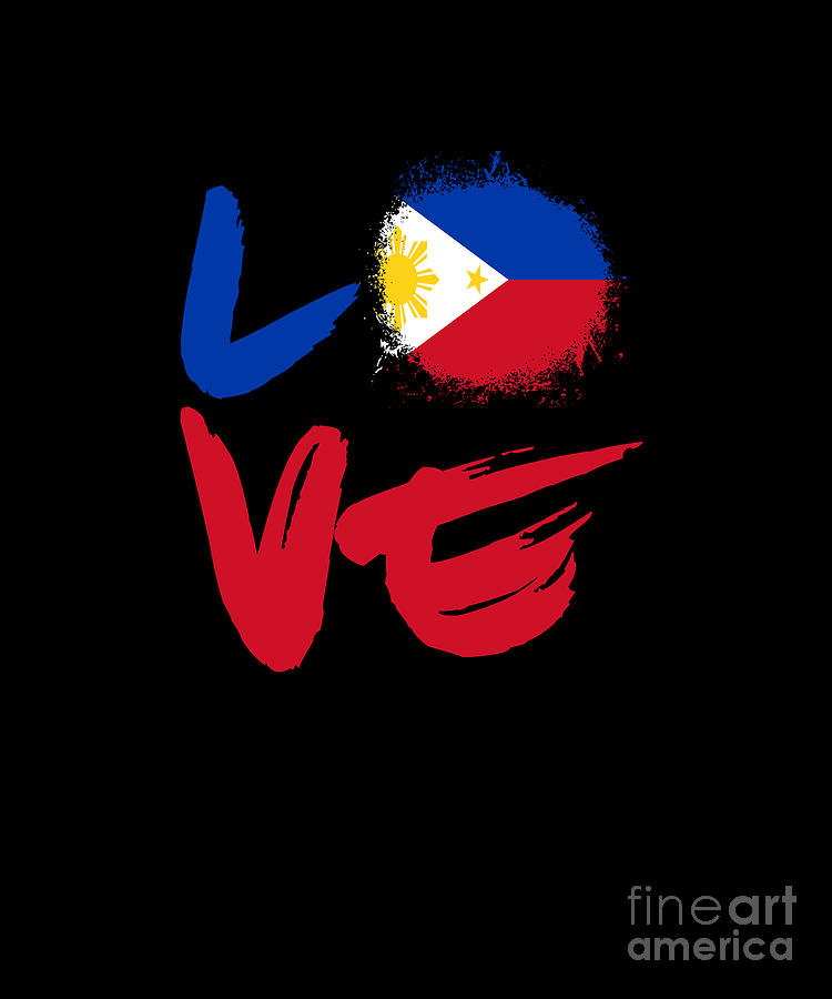 Love Philippines Flag Filipino Filipina Pinoy Pinay -4402