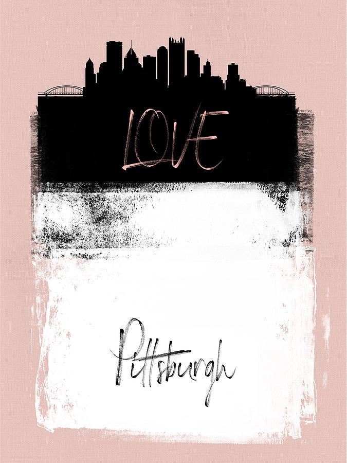 Pittsburgh Mixed Media - Love Pittsburgh by Naxart Studio