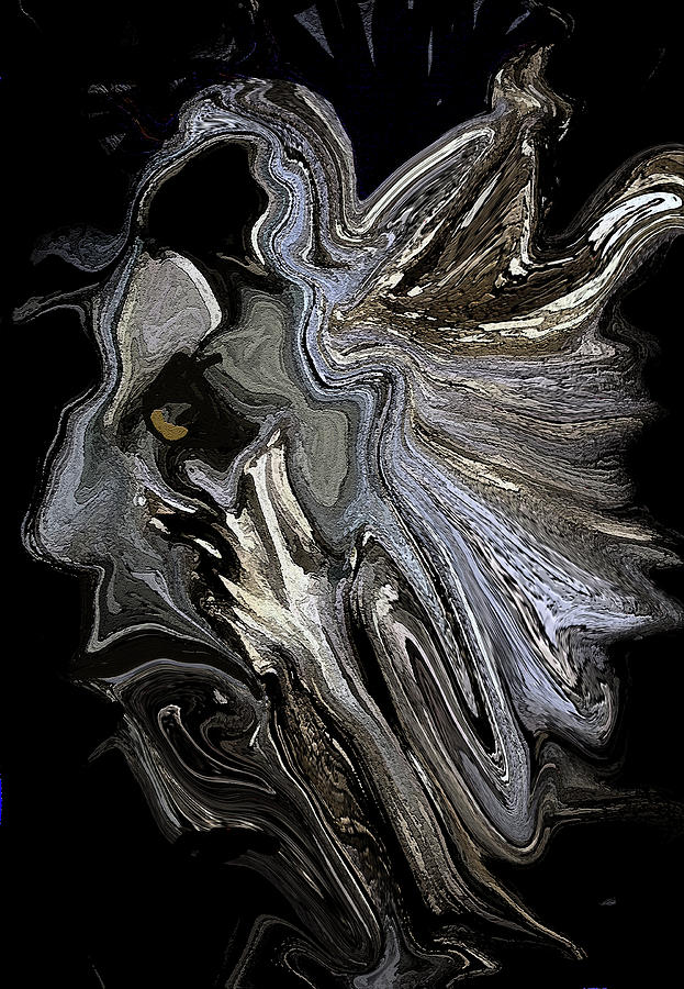 Abstract Digital Art - The Drifter by Sherris - Of Palm Springs