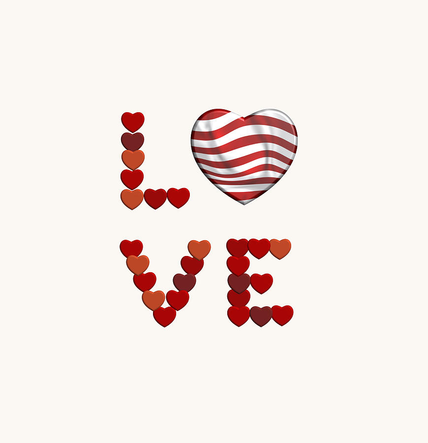 Love to red white and res stripes  by Alberto RuiZ