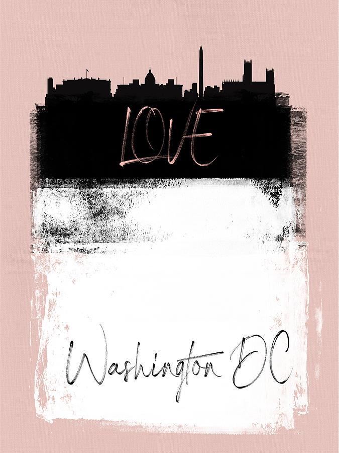 D.c. Mixed Media - Love Washington, D.c. by Naxart Studio