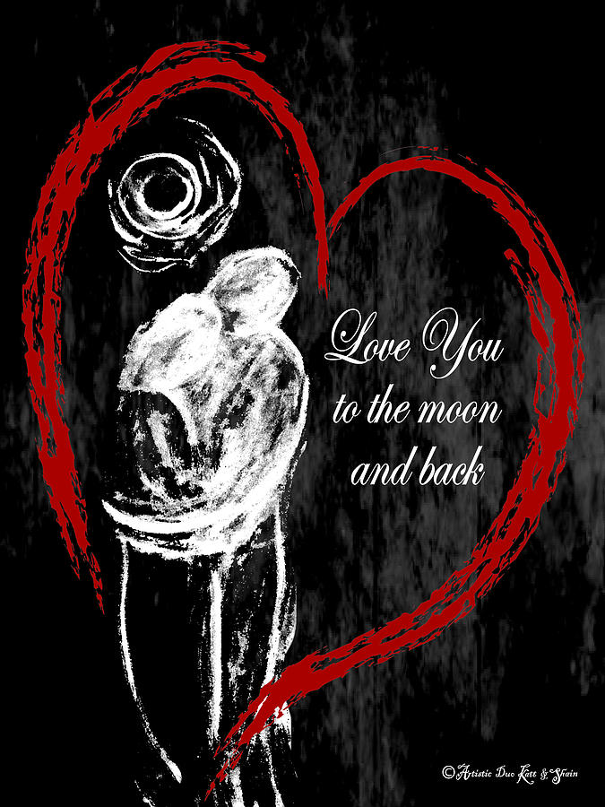 Love you MoonBack_Spiral-Notebook_6x8 by Artistic Duo Katt and Shain