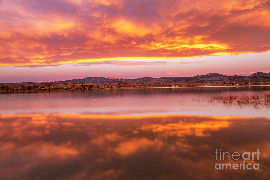 Loveland Colorado Sunrise at Boedecker Lake by Ronda Kimbrow