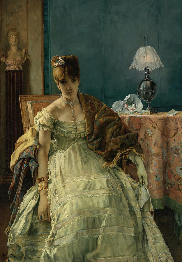 Alfred Stevens Painting - Lovelorn, 19th Century by Alfred Stevens