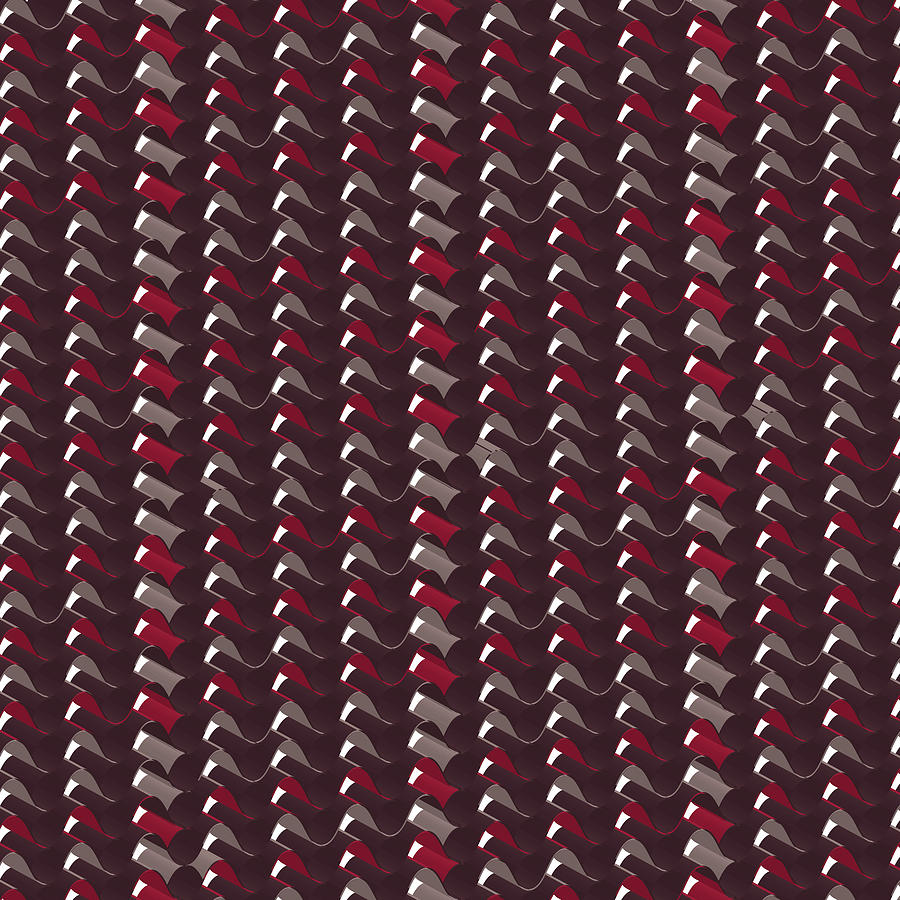Lovely Dark Red Pattern Digital Art