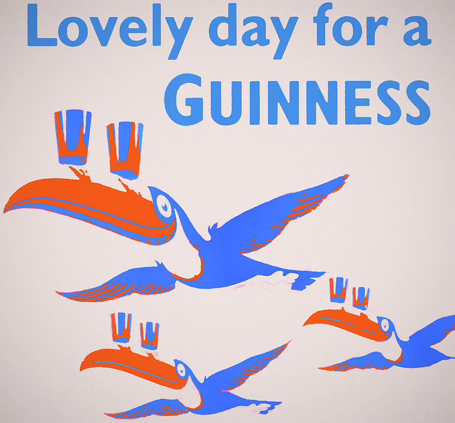 Guinness Toucan Mixed Media - Lovely Day For Guinness by Dan Sproul