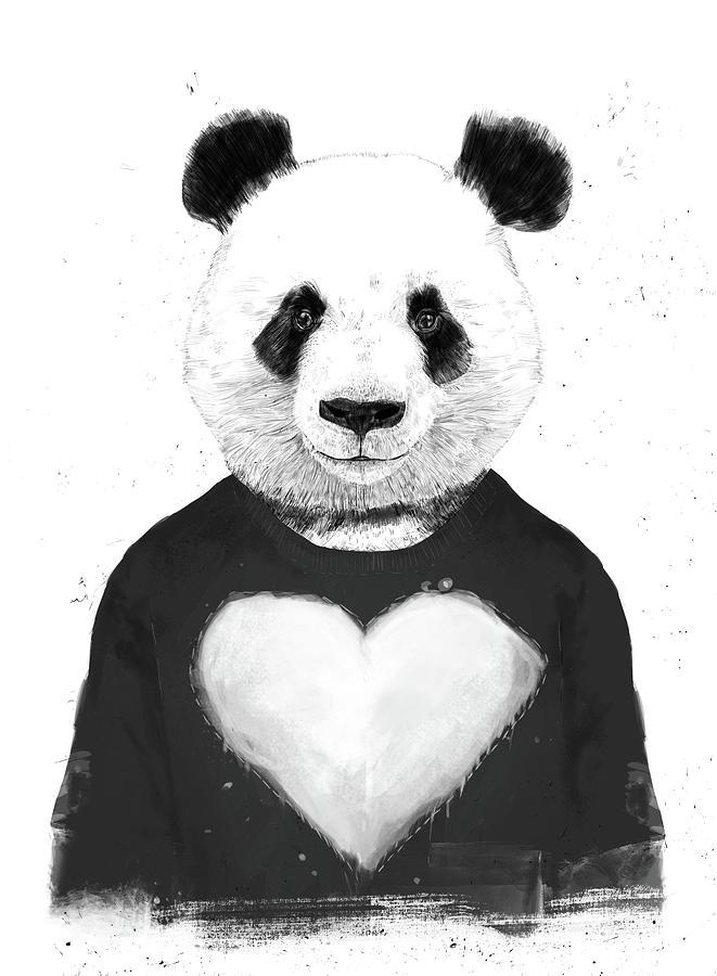 Panda Mixed Media - Lovely Panda  by Balazs Solti