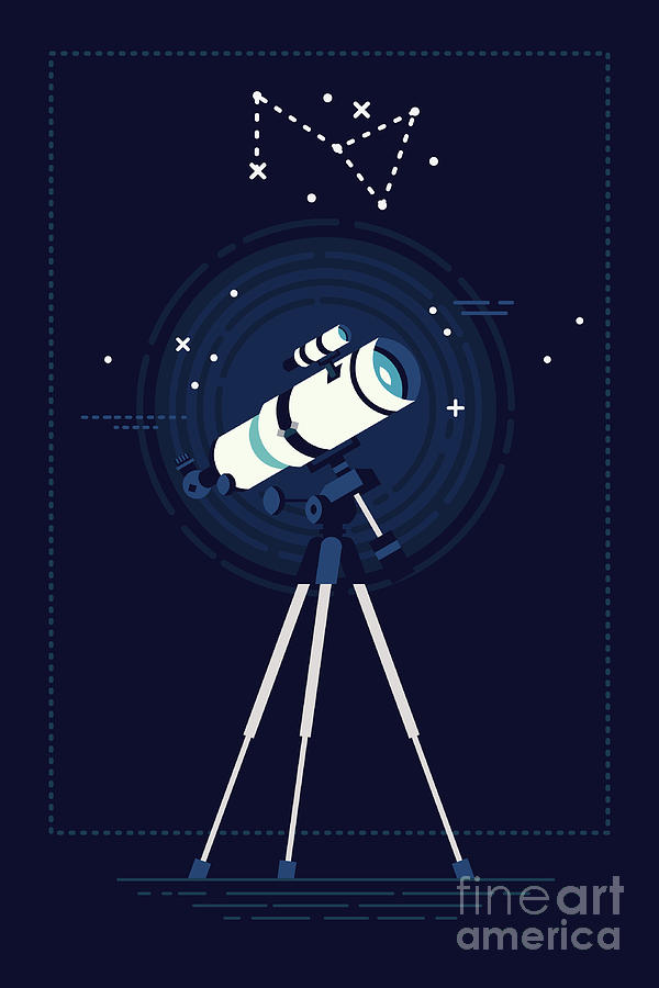 Big Digital Art - Lovely Vector Background On Astronomy by Mascha Tace