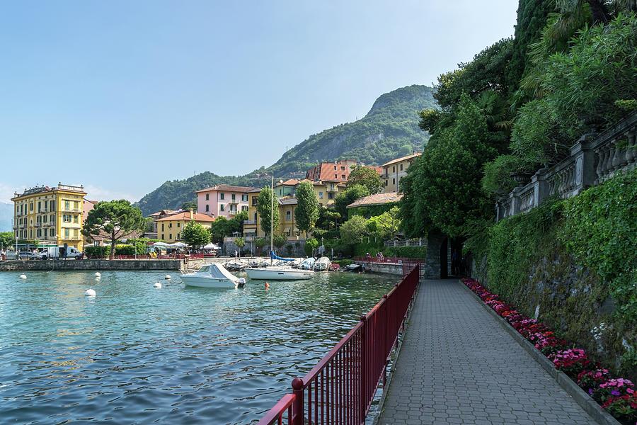 Lovers Promenade at the Harbor - Charismatic Varenna Lake Como Lombardy Italy by Georgia Mizuleva