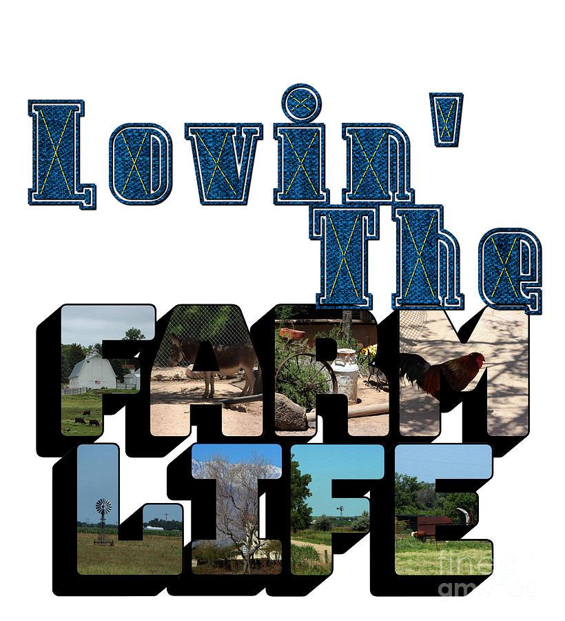 Lovin' The Farm Life Big Letter by Colleen Cornelius