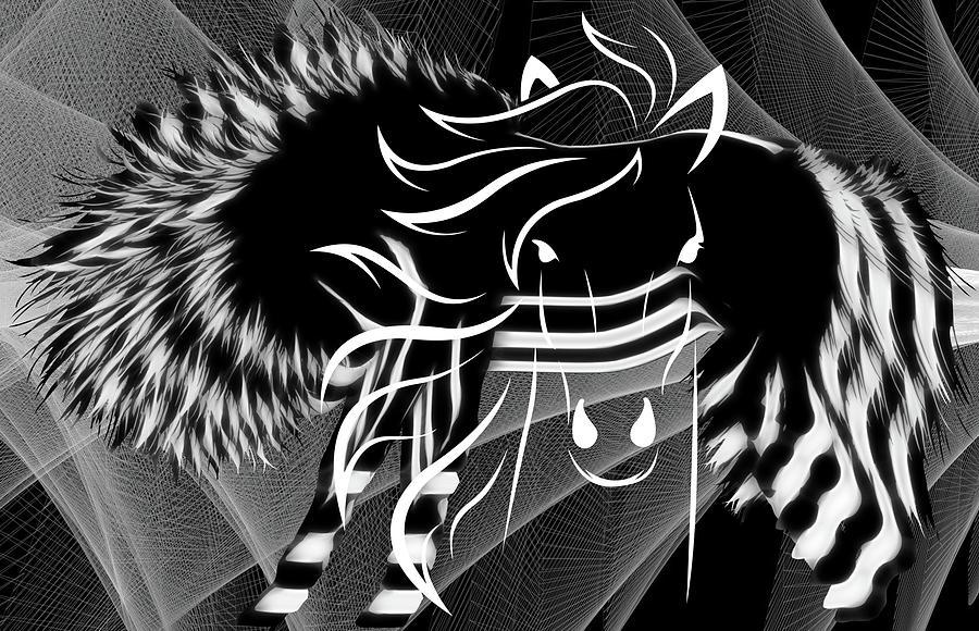 Loving Horses - Digital Art by Ericamaxine Price