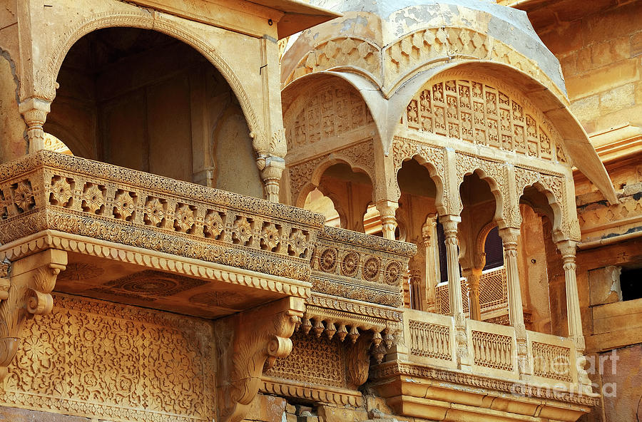 Low Angle View Of Balcony In Jaisalmer Photograph by Sorin Rechitan / Eyeem