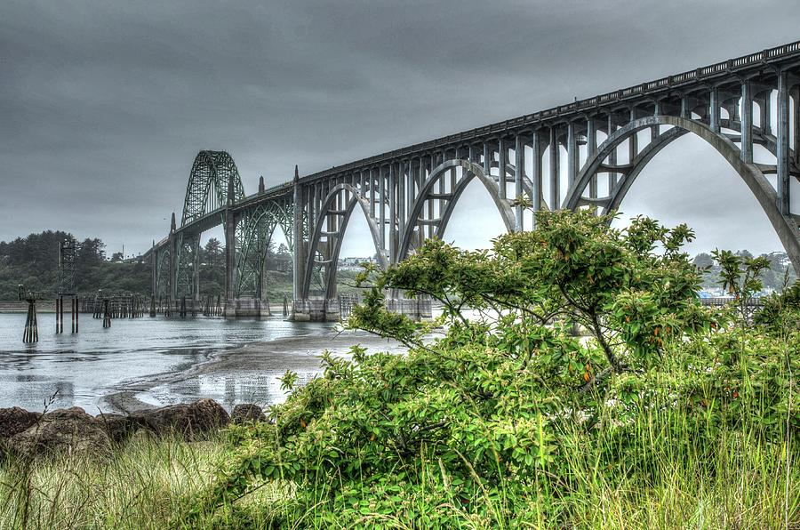 Low Tide At The Yaquina Bay Bridge by Thom Zehrfeld