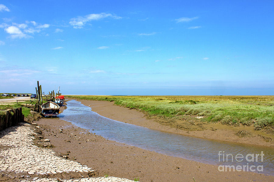Low tide at Thornham Staithe by John Edwards