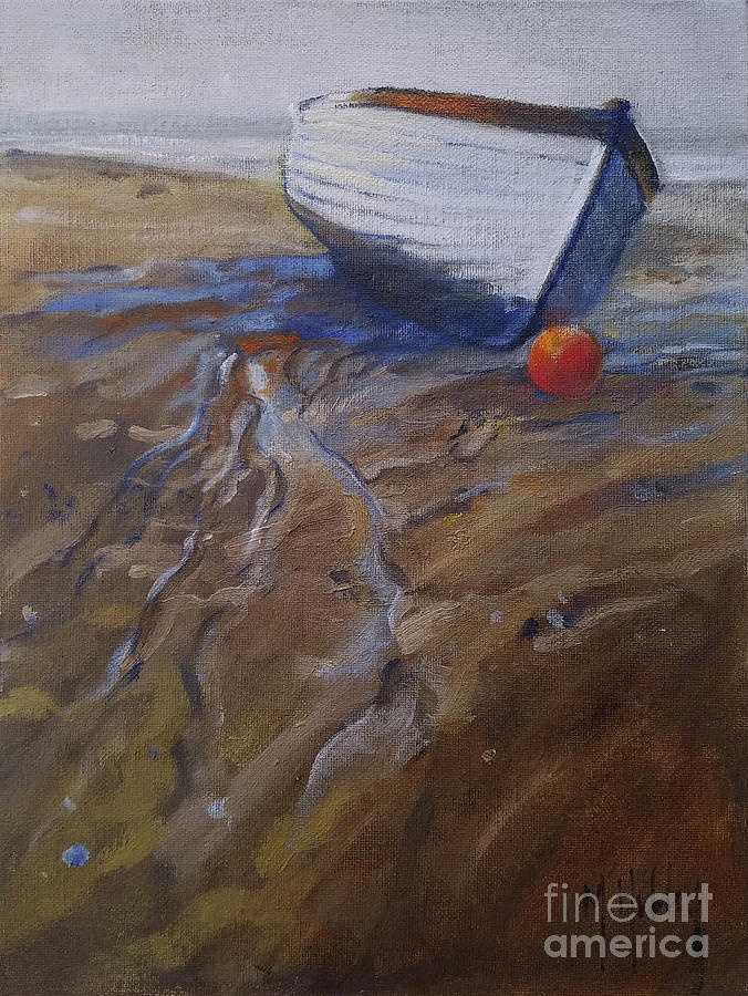 Low Tide Boat by Mary Hubley