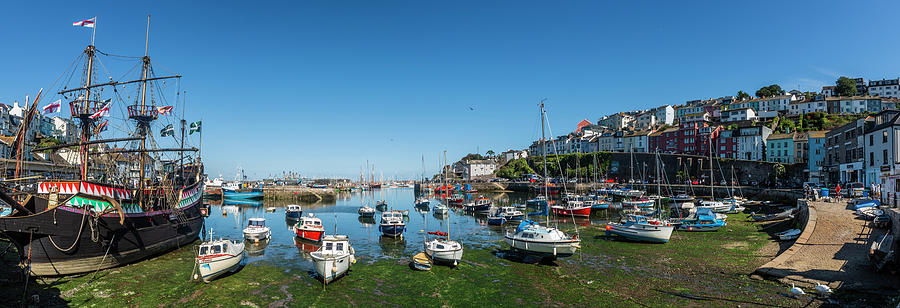 Brixham Photograph - Low Tide, Brixham Harbour, Devon. by Maggie McCall