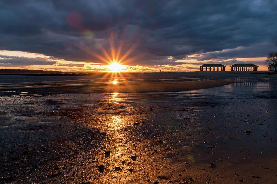 Low Tide Sunset by Marzena Grabczynska Lorenc