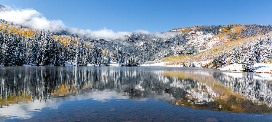 Lower Cataract Lake after the Snow Storm by Stephen Johnson
