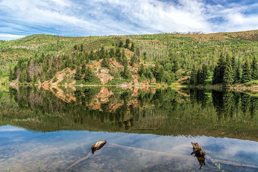 Lower Cataract Lake Reflections by Stephen Johnson