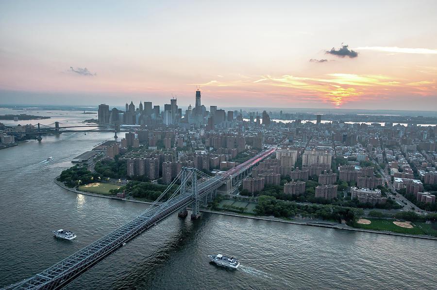 Lower East Side Williamsburg Bridge Photograph by Keith Sherwood