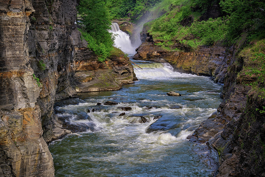 Lower Falls and the Genesee River Gorge by Rick Berk