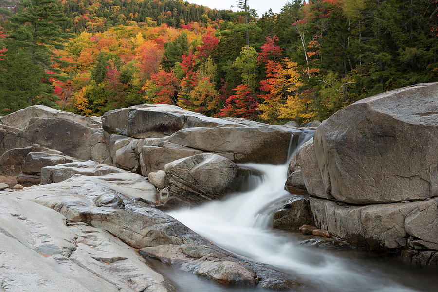 Lower Falls, Kancamagus Highway by Greg Parsons