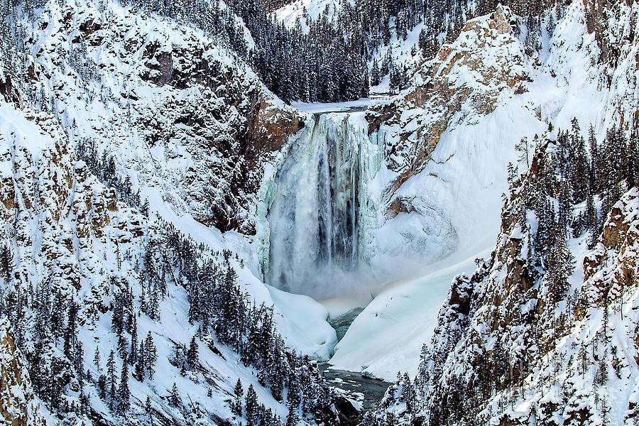 Lower Falls Winter by Sonya Lang