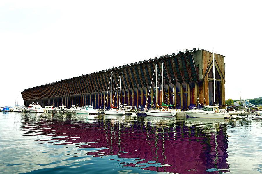 Lower Harbor Ore Dock At Marquette Michigan. Photograph