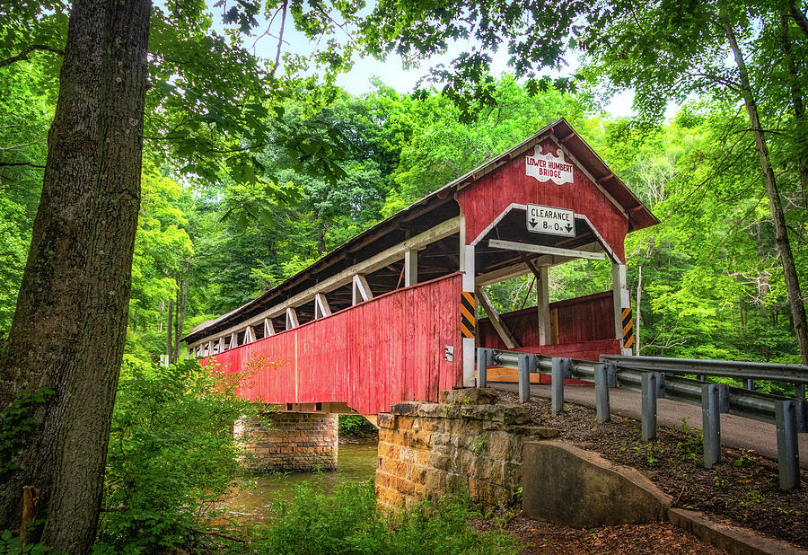 Lower Humbert Covered Bridge by Carolyn Derstine