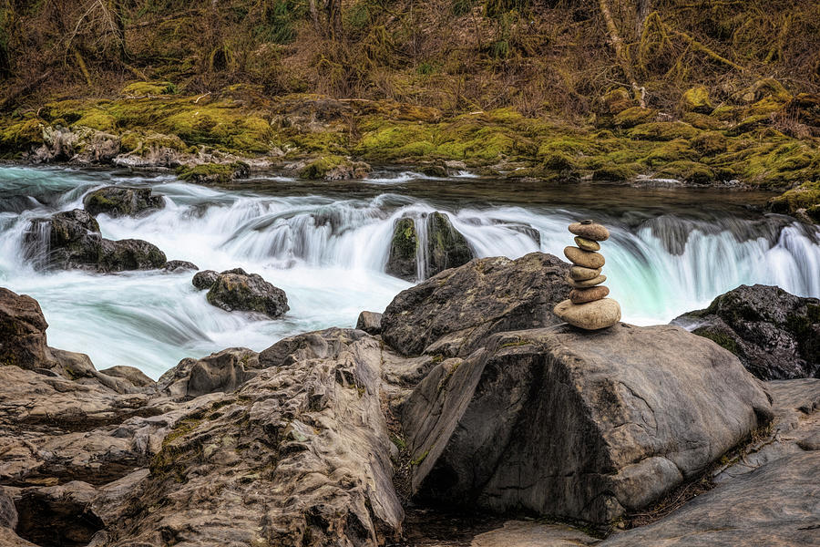 Lower Lewis River Zen by Wes and Dotty Weber