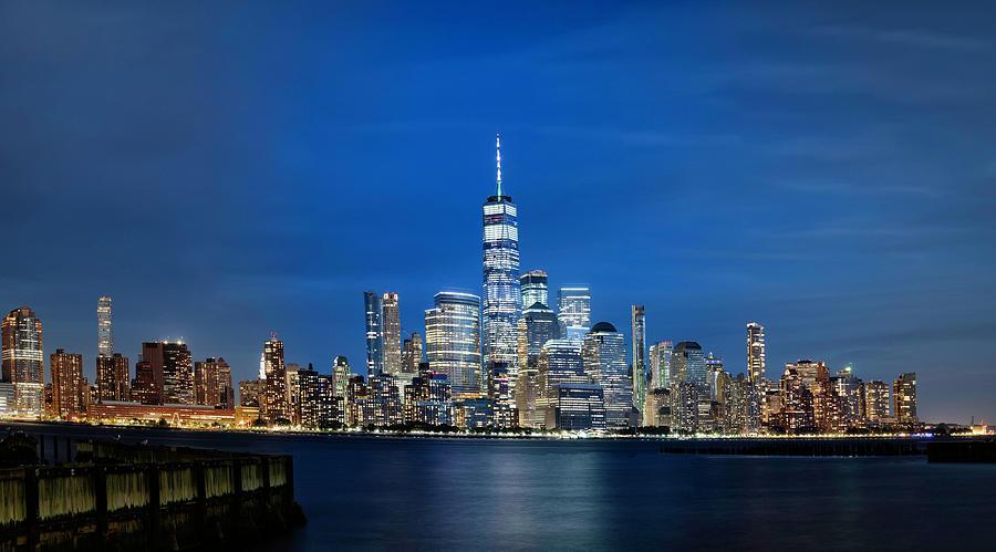 Lower Manhattan After Dark by Fran Gallogly