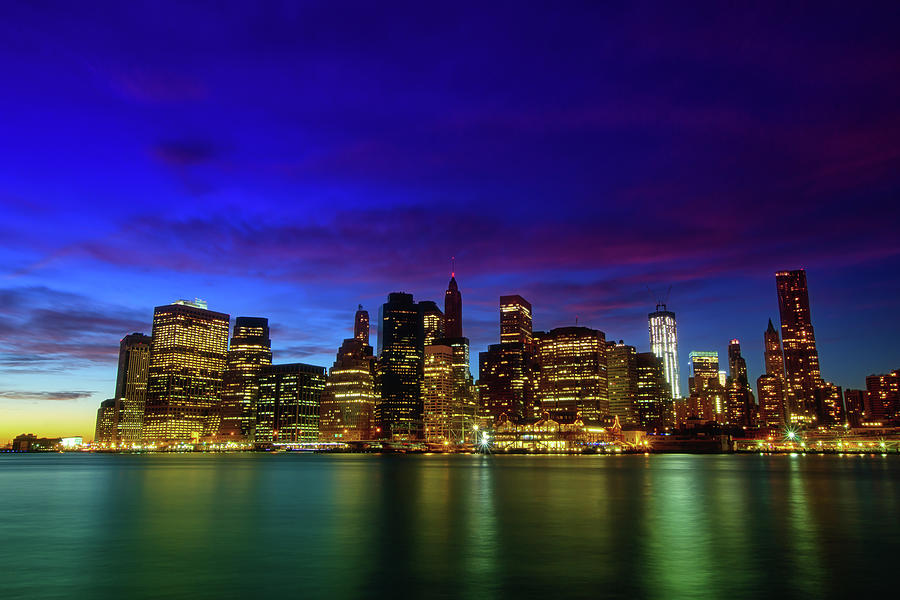 Lower Manhattan At Purple Dust Photograph by Photo By Yohsuke Ikebuchi