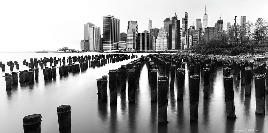Lower Manhattan Skyline From Pier 1 by T-S Fine Art Landscape Photography